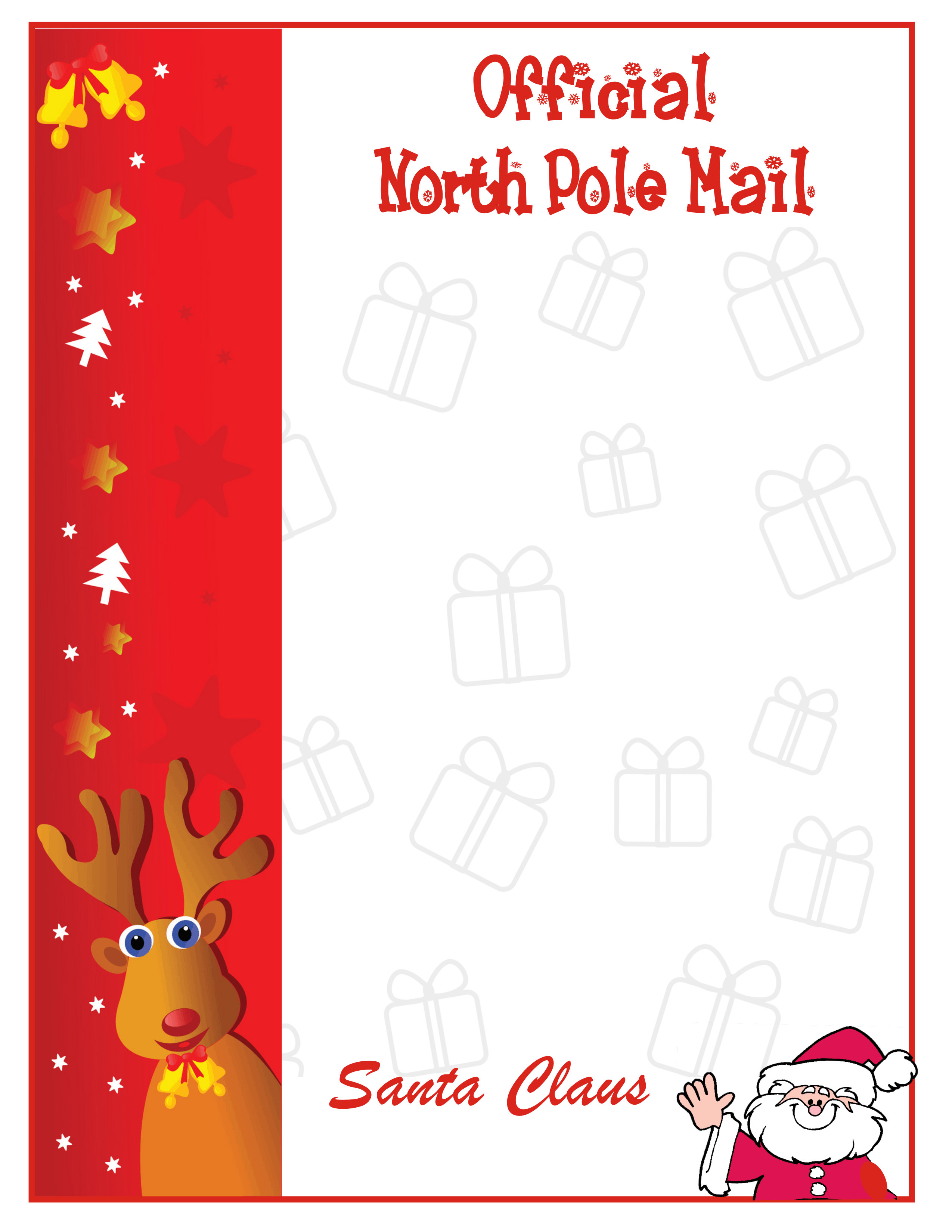 Alfa img - Showing > Personalized Letters From Santa Printable
