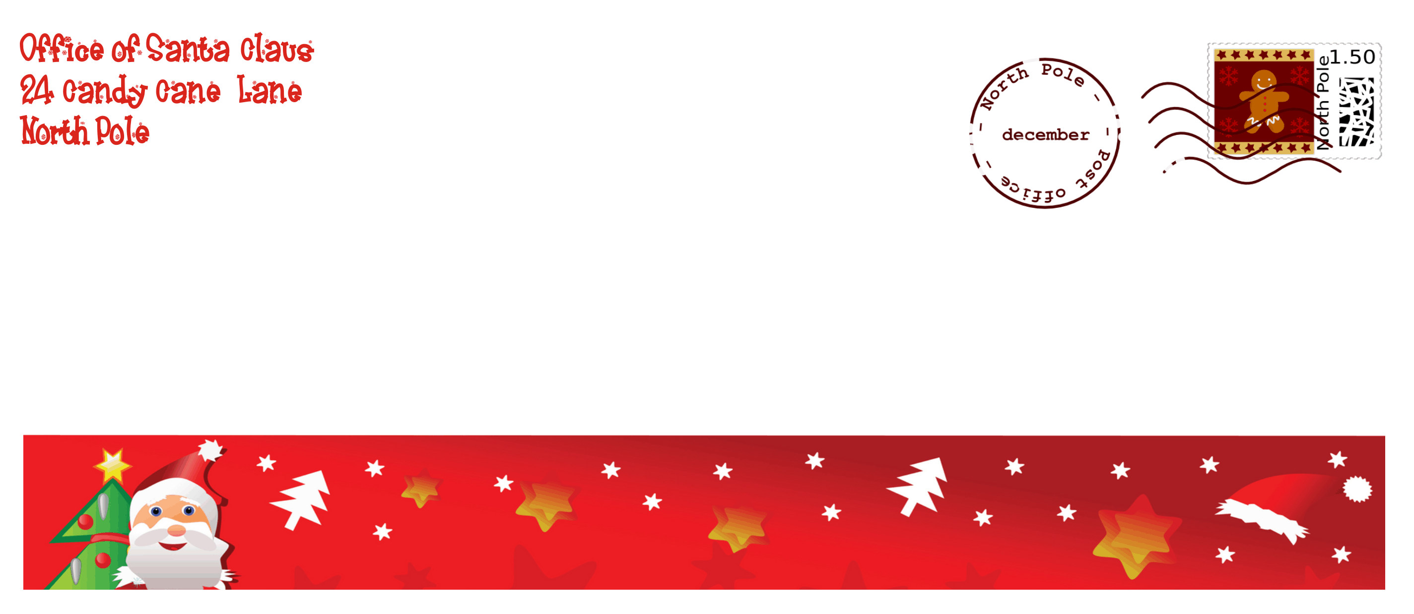 from santa envelope template free printable envelope from santa ...
