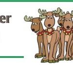 Printable Reindeer Poop Bag Topper