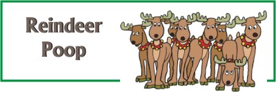 printable reindeer poop bag topper